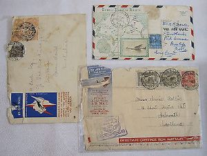 Australian First Day Cover - 1st All Australian Air Mail Service 1931 + 2 others